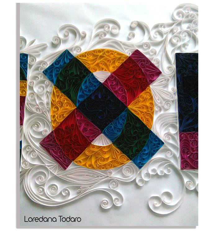 Logo EXPO MILANO 2015 in quilling