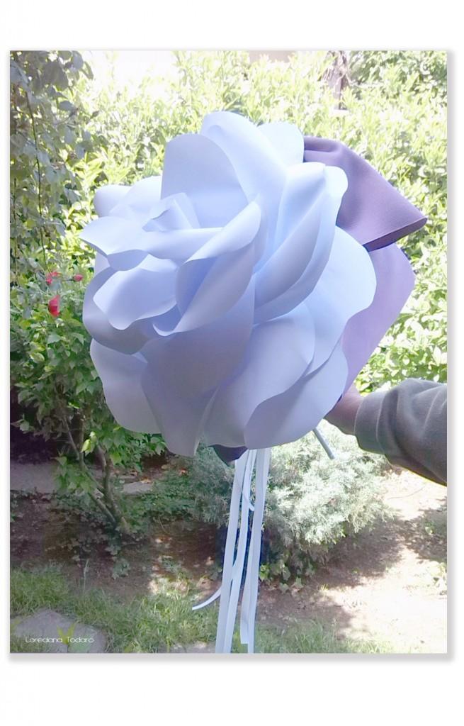 Bouquet fiore di carta (rosa gigante)