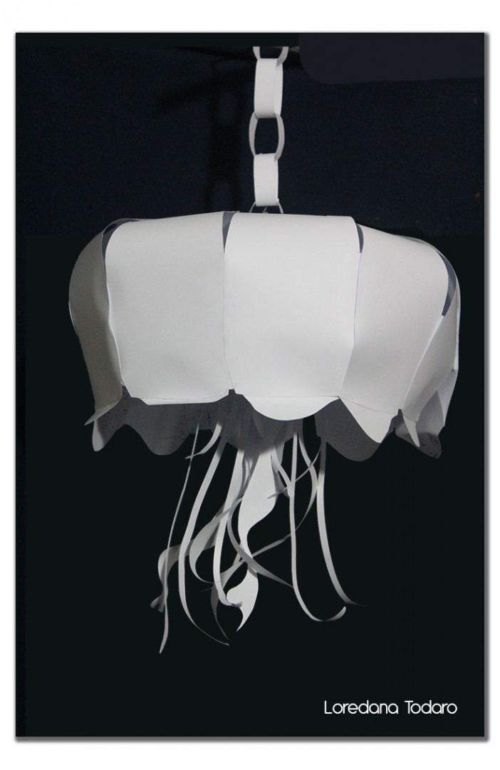 Lampada in carta - medusa
