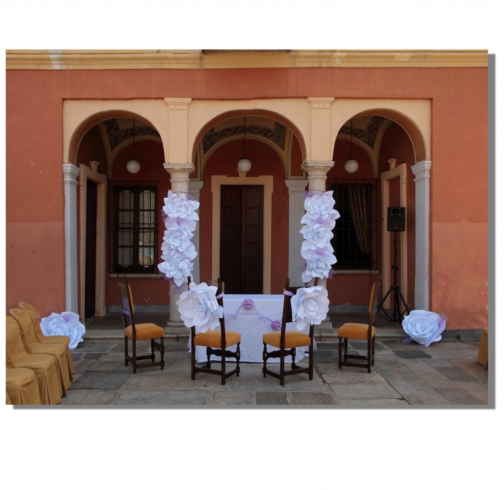 Allestimenti matrimonio con fiori di carta