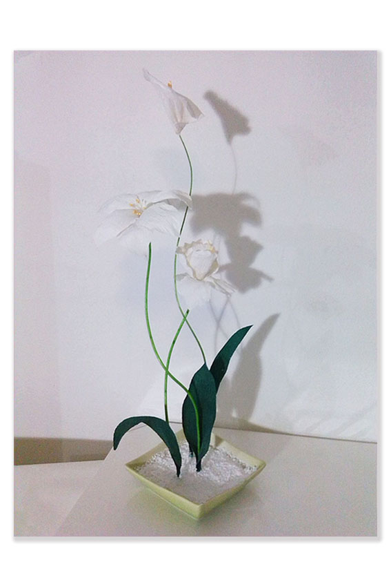Ikebana in carta crespa